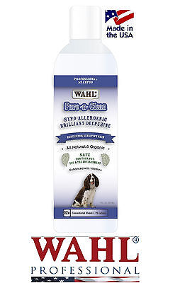 Wahl NATURAL/ORGANIC Pure N Clean Dog Cat Shampoo CONCENTRATE HYPOALLERGENIC