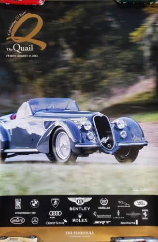 """2012 The Quail A Motorsports Gathering Event Poster 36"""" x 24"""""""