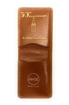 NOS 1936 Coca Cola Advertising Pigskin Wallet - 50th Anniversary - 'Have a Coke'