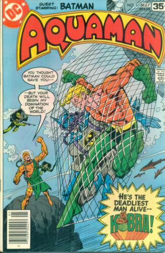 Aquaman #61 Newton Batman Kobra DC Questionnaire Variant Aparo Cover NM/M 1978