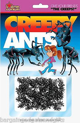 50 FAKE PRETEND PLASTIC ANTS INSECTS BUGS TOY JOKE BOYS GIRLS PRESENT