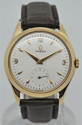 Omega 2619 yellow 18k gold gents dress watch