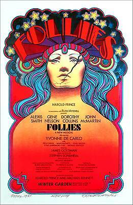 Follies 1971 Broadway Full Sized Show Poster New AP Hand-Signed by David Byrd