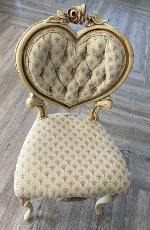Victoria Antique Wood Heart Back Chair Beautiful PICK UP CLIFTON NJ