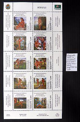 VENEZUELA 2002/4 - 13 M/Sheets As Described U/M Cat £178 NB447