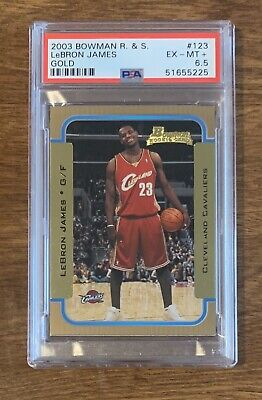 2003 Lebron James Rookie Bowman Rookies And Stars Gold psa 6.5