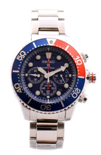 Seiko Prospex Men's SSC019 Solar Diver Chronograph Watch