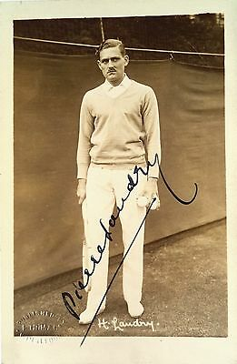 Landry Pierre 1926 French Davis Cup Player Vintage Signed Tennis Postcard
