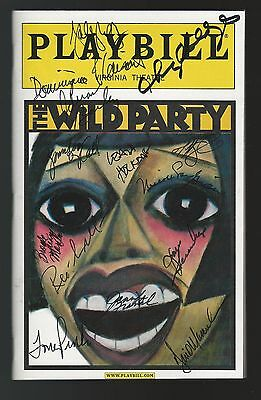 The Wild Party Signed Playbill Autograph Cast New York City Broadway - Party City Broadway