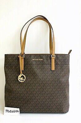 Women MK Michael Kors Morgan Large Tote Bag Brown