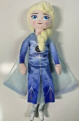 "Walt Disney Frozen 2 TALKING ELSA PRINCESS 9"" Plush STUFFED DOLL Toy - Works!"