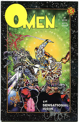 OMEN #1, VF/NM, Signed Tim Vigil, Bloody, Horror, NorthStar, 1987, more in store