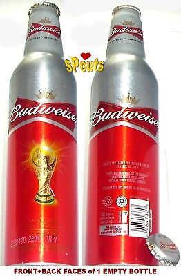 2010 AUSTRALIA-NEW ZEALAND WORLD CUP SOCCER BUDWEISER ALUMINUM BOTTLE BEER CAN