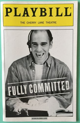Playbill Fully Committed Mark Setlock Becky Mode Nicholas Martin  2000 Off Broad