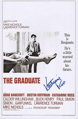 Katharine Ross Authentic Hand Signed  The Graduate  11X17 Photo