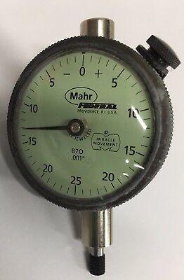 Federal B7o Dial Indicator 0-.125 Range .001 Graduation With Lug Back