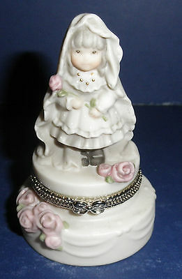 Enesco Pretty As A Picture #323799 Bride Covered Hinged Box- New-RETIRED