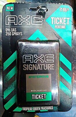 Axe signature MYSTERIOUS  ticket body perfume Pocket ,17 Ml 250 spray fs