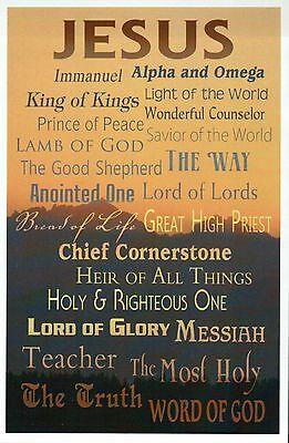 Names of God Jesus Lord of Lords etc - Religious & Inspirational Modern Postcard