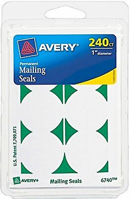 240 Round Mailing Seals Permanent Adhesive 1 Stickers Flyer Brochure Avery 6740