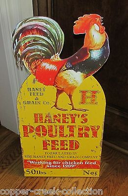 CHICKEN ROOSTER POULTRY FEED Standing SIGN*Primitive/French Country Wall Decor