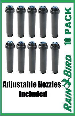"10 Rain Bird 4"" Uni-Spray Head Sprinkler w/ Adjustable 10-VAN Nozzle 360° US-410"