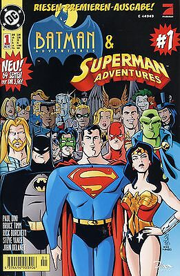 BATMAN & SUPERMAN ADVENTURES (deutsch) #1-8 + Variant DINO-Verlag 1997  in TOP !