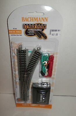 Bachmann N Scale E-Z Track Nickel Silver Remote Turnout - Right #44862 NIP