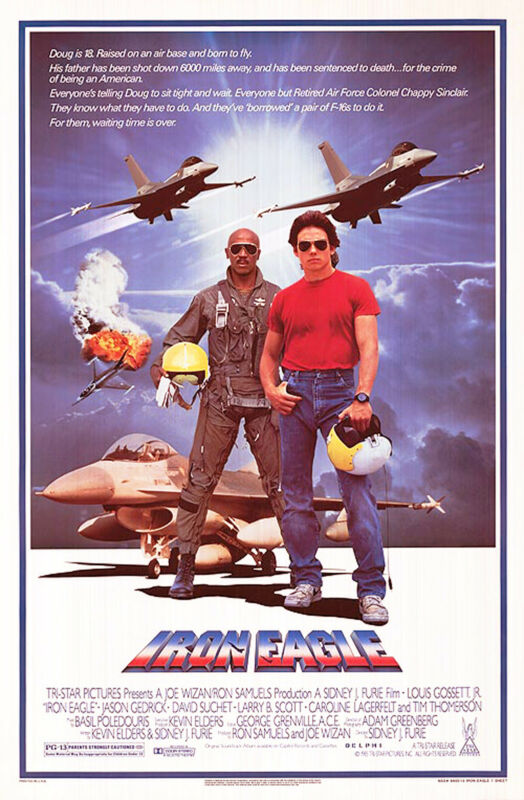 IRON EAGLE (1986) ORIGINAL MOVIE POSTER  -  ROLLED