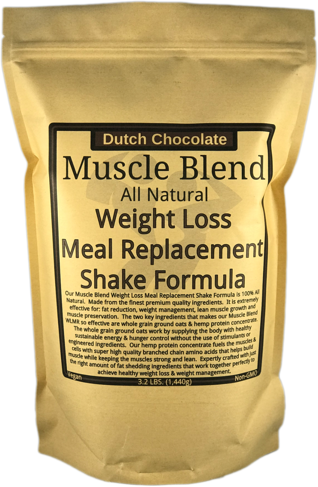Muscle Blend Weight Loss Meal Replacement Shake Formula, All Natural, Non-GMO