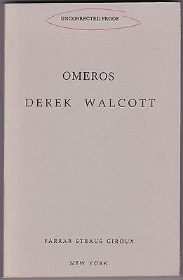 Omeros By Derek Walcott   First Edition   1990   Uncorrected Proof   St Lucia