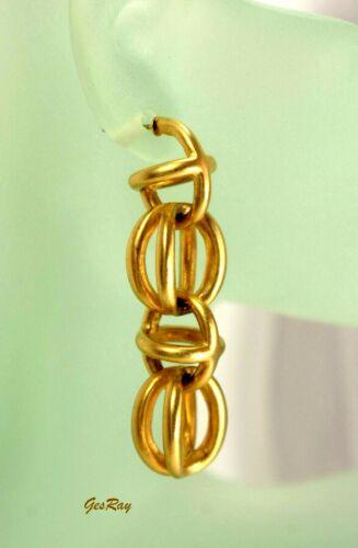 Estate Statement Dangle Matte Pierced Earrings