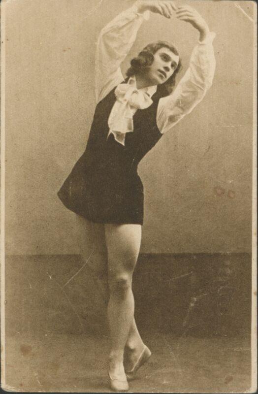 Waslaw NIJINSKY (1889–1950): Original Postcard Photograph in Les Sylphides