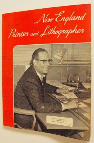 NEW ENGLAND PRINTER AND LITHOGRAPHER MAGAZINE-B-142  May 1959 W/Advertisements