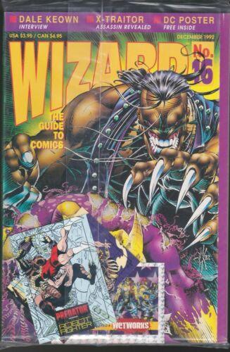 WIZARD MAGAZINE # 16 1992 COMICS GUIDE BAGGED WITH CARDS PREDATOR VS MAGNUS