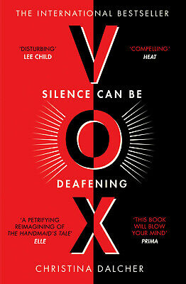 VOX by Christina Dalcher - Bestselling Dystopian Thriller Book - Paperback