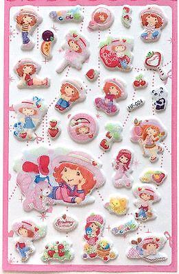 Lovely Kawaii Strawberry Shortcake 3D Vinyl Sticker Girl Kids Decor Gift JAPAN