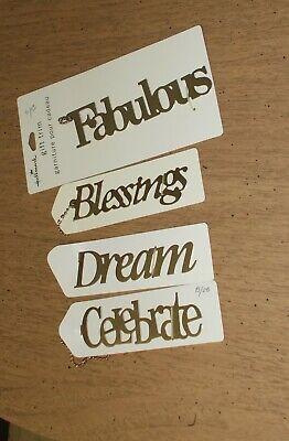 Lot of  Hallmark Gift Trim: Celebrate, Dream, Blessings, Fabulous ~ NEW Hallmark Gift Trim