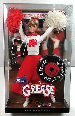 SANDY CHEERLEADER FROM GREASE BARBIE DOLL by Mattel NIB