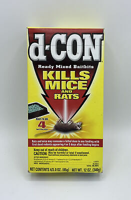 d-CON Ready Mixed Bait Bits d-Con Kills Mice & Rats- 4 Bait Trays (3oz/each)2006