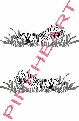 2- side Fleetwood prowler RV sticker decal graphics trailer camper rv tiger
