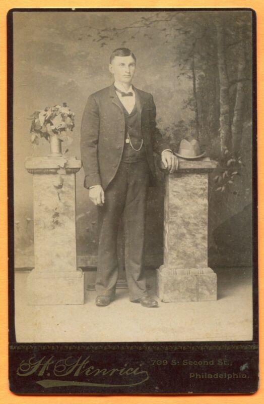 Philadelphia, PA, Portrait of a Man, by Henrici, circa 1890 Backstamp