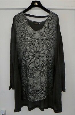 390£!CURRENT BIYA BY JOHNNY WAS OVERSIZED HIGH-LOW LONG TUNIC SHIRT NET A PORTER
