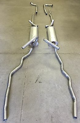 1956 PACKARD PATRICIAN & CARIBBEAN DUAL EXHAUST WITH RESONATORS, 304 STAINLESS