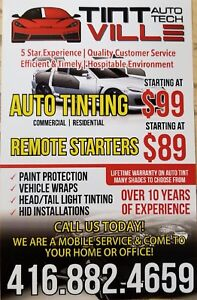 Auto Tinting and Remote Starters (Best in the GTA)