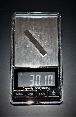 Pinewood Derby/ RC/ Hot Wheel Weights- Pure Tungsten bar 30 g World Speed Record