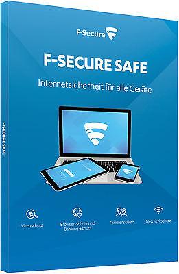 F-Secure SAFE 2019 -1/2/3/5/7/10 Geräte -1/2 Jahre Laufzeit - ESD Lizenz online kaufen