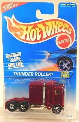 HOT WHEELS MAINLINE #483 THUNDER ROLLER (BURGUNDY)