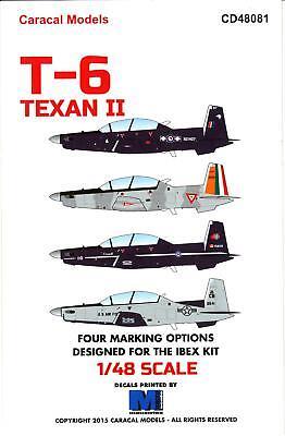 Caracal Decals 1/48 BEECHCRAFT T-6 TEXAN II Turboprop Trainer for sale  USA