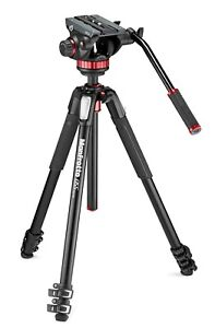 Manfrotto fluid video head with tripod